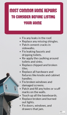 Common home repairs you have to do before home selling